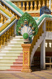 Naga in an cambodian temple Royalty Free Stock Images