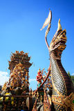 Naga car in thailand. For new year northern country thailand Royalty Free Stock Images