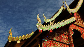 Naga, de Kerk van het Geveltopdak van Boeddhistische tempels Royalty-vrije Stock Fotografie