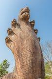 Naga de la hierba del templo de Preah Vihear Fotos de archivo