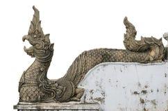 Naga de piedra tallado Imagenes de archivo