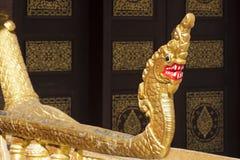 Naga - decorazione dorata del dettaglio Fotografie Stock Libere da Diritti