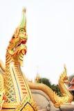 Naga di Phaya dell'oro Immagine Stock
