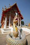 Naga di Phaya di Wat Bang Krai Fotografia Stock Libera da Diritti