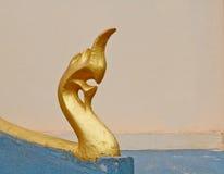 Naga drabinowa rzeźba w Lao świątyni Zdjęcia Royalty Free