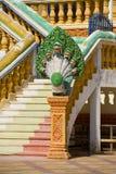 Naga in een Cambodjaanse tempel Royalty-vrije Stock Afbeeldingen