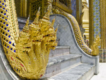 Naga in Emerald Buddha Temple Royalty-vrije Stock Foto