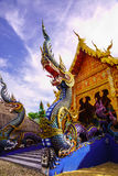 Naga en tempelpaviljoen Royalty-vrije Stock Afbeelding