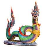 Naga (Gigantyczny wąż) odizolowywający na białym tle Zdjęcia Stock