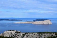 Naga gol wyspa, Chorwacja fotografia royalty free