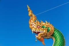 Naga głowa chroni świątynię Obraz Stock
