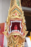 Naga Guardian at Wat Pra Singh, Chiang Mai, Thailand Royalty Free Stock Image