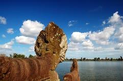 Naga head at the royal bath Royalty Free Stock Image