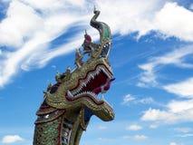 Naga head statue Stock Image