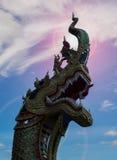 Naga head statue Royalty Free Stock Photo