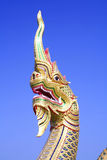 Naga head in Thai temple Stock Photos