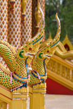 Naga heads at Buddhist temple in Thailand Stock Image