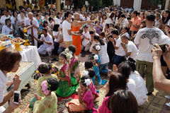 Naga hindu ceremony in thailand Royalty Free Stock Images