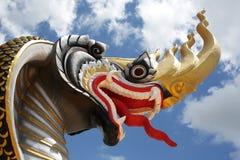 Naga im Tempel Wat Sri Thammaram, Initailly nannte Wat Tha C lizenzfreie stockbilder