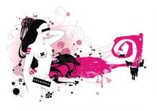 naga kobieta plakatowa Obraz Stock