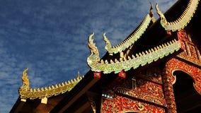 Naga kyrka för gaveltak av buddistiska tempel Royaltyfri Fotografi
