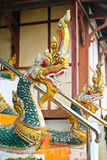 Naga ladder sculpture in Lao temple Stock Images
