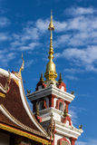 Naga Lanna Gable apex Chedi Royalty Free Stock Images