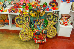 The Naga Mask from Sri Lanka Royalty Free Stock Photography