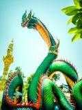 Naga or Naga in Nong Bua Temple royalty free stock images