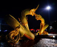 Naga in the night Royalty Free Stock Photography