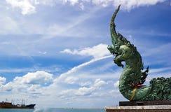Naga på Songkhla laken Royaltyfria Foton