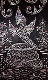 Naga painting on the wall Stock Images