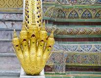 Naga przy Szmaragdową Buddha świątynią Fotografia Stock