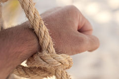 Naga ręka wiążąca Fotografia Stock