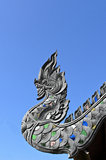 Naga Roof at Wat Jetiyaluang Temple Royalty Free Stock Photography
