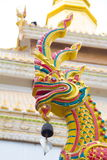 Naga on the roof. Of Wat Maha Wanaram & x28;Wat Pa Yai& x29;,Ubonratchathani Province,Thailand Royalty Free Stock Images