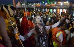Naga Sadhu Royaltyfri Foto