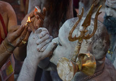 Naga Sadhu Royaltyfri Fotografi