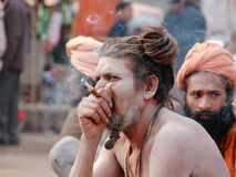 NAGA SADHU,HOLY MEN IN INDIA Stock Photos