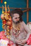 NAGA SADHU, HOMBRES SANTOS DE LA INDIA Imagen de archivo