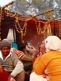 NAGA SADHU, HOMENS SANTAMENTE DE INDIA Imagem de Stock