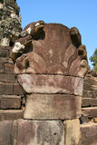 Naga sculpture at Angkor Wat Stock Photo