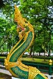 Naga sculpture in Lao temple. Naga ladder sculpture in Lao temple, Laos Stock Images