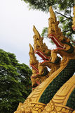 Naga sculpture in Lao temple. Naga ladder sculpture in Lao temple, Laos Royalty Free Stock Image