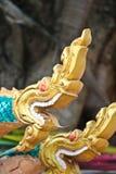 Naga sculpture in Lao temple. Naga ladder sculpture in Lao temple, Laos Stock Photos