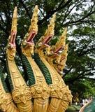 Naga sculpture in Lao temple. Laos Stock Photography