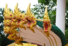Naga sculpture in Lao temple Stock Image