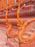 Naga sculpture made from glazed tile Royalty Free Stock Photo