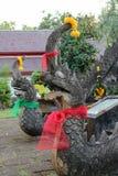 Naga sculpture Stock Photo