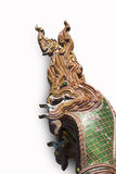 Naga sculpture on the roof Royalty Free Stock Images